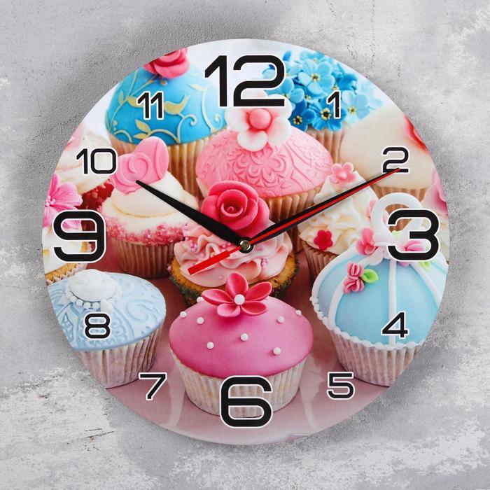 Часы настенные, серия Кухня, Кексы, 24 см