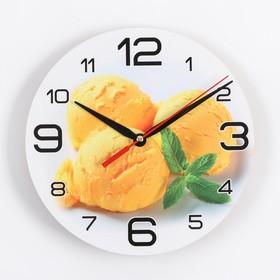 Часы настенные, серия: Кухня, 'Мороженое с мятой', 24 см Ош