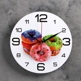 Часы настенные, серия: Кухня, 'Пончики', 24  см, микс Ош