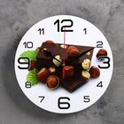 """Часы настенные, серия: Кухня, """"Шоколад с лесным орехом"""", 24  см, микс"""