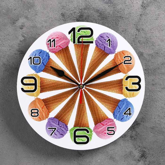 Часы настенные, серия Кухня, 12 рожков , 24 см, микс