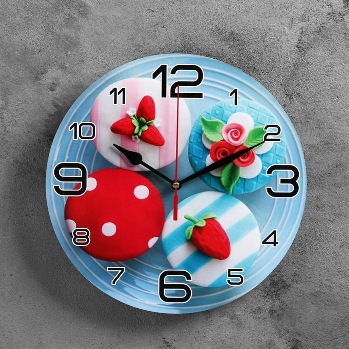 Часы настенные, серия Кухня, Мини тортики, 24 см