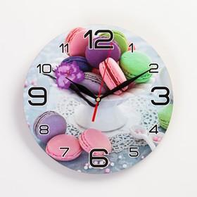 Часы настенные, серия: Кухня, 'Макаруны', 24  см, микс Ош