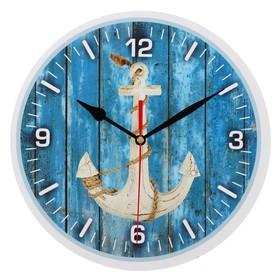Часы настенные, серия: Море, 'Якорь', 24 см Ош