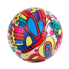 Мяч «Бабочки на солнечном шаре», глянцевый, d=22 см, 100 г
