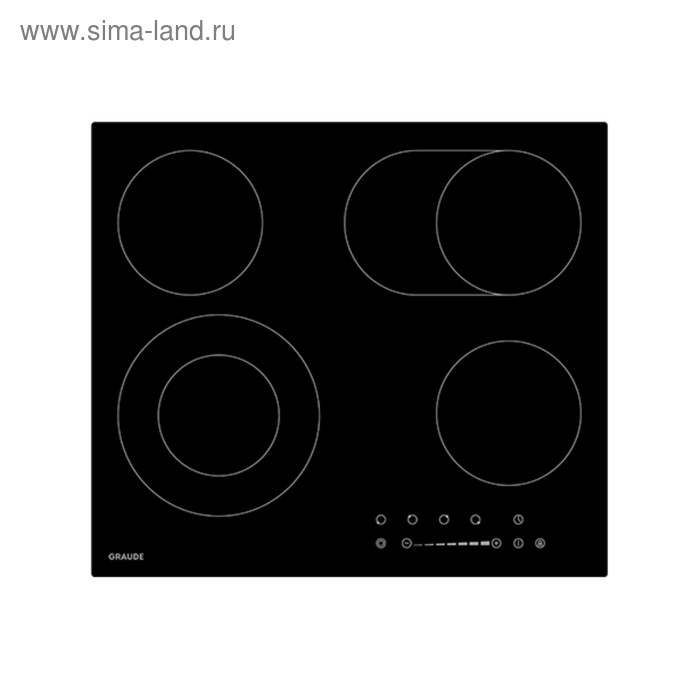 Варочная поверхность Graude EK 60.2, независимая, стеклокерамическая, 4 конфорки, черное стекло   31