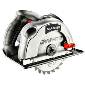 Пила дисковая GRAPHITE 58G486, 1200 Вт, 185х20 мм, 5000 об/мин, глубина резки 65/43 мм