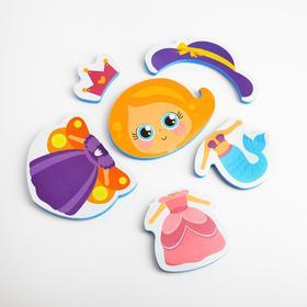 Набор игрушек для ванны «Принцесса»: пазлы-наклейки из EVA, 6 элементов Ош