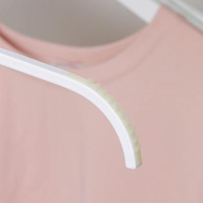 Вешалка-плечики для одежды, размер 44-46, антискользящие плечи, цвет белый
