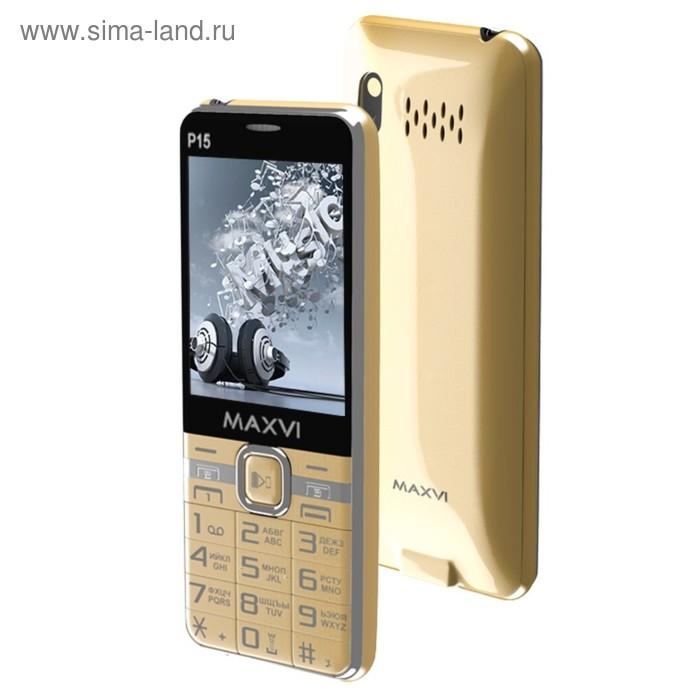 Сотовый телефон Maxvi P15 цвет золото