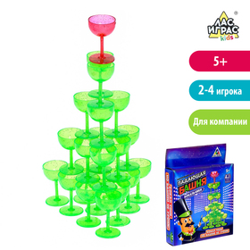 Настольная игра на равновесие «Падающая башня», бокальчики