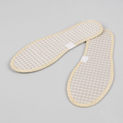 Стельки для обуви, окантовка, 36 р-р, пара, цвет бежевый