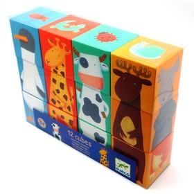 Кубики «Животные», 12 шт