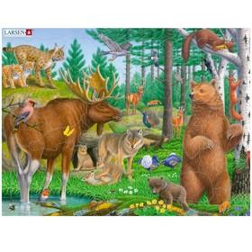 Пазл «Лесные животные»