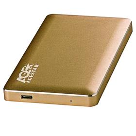 Внешний корпус для HDD AgeStar 3UB2A16C SATA алюминий золотистый 2.5' Ош