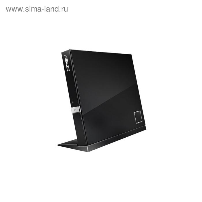 Привод Blu-Ray Asus SBC-06D2X-U/BLK/G/AS черный USB slim внешний RTL ASUS