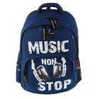 Рюкзак школьный Bruno Visconti, 40 х 30 х 16 см, эргономичная спинка, Music, синий