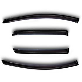 Ветровики, 4 двери, темные Hyundai Grand Santa Fe 4дв. 2013-