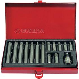 Набор вставок (бит) 10 мм, TORX, Т20-Т55, 15 предметов