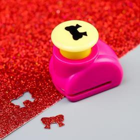 Дырокол фигурный кнопка 'Бант' d=1,5 см, МИКС Ош