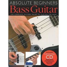 Самоучитель игры на бас-гитаре для начинающих, 40 стр., язык: английский Ош