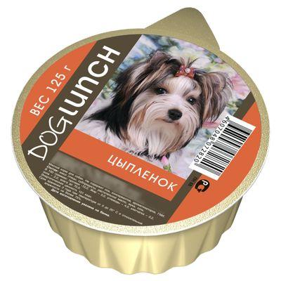 """Консервы """"Дог ланч"""" для собак, крем-суфле с цыпленком, ламист., 125 г. - Фото 1"""