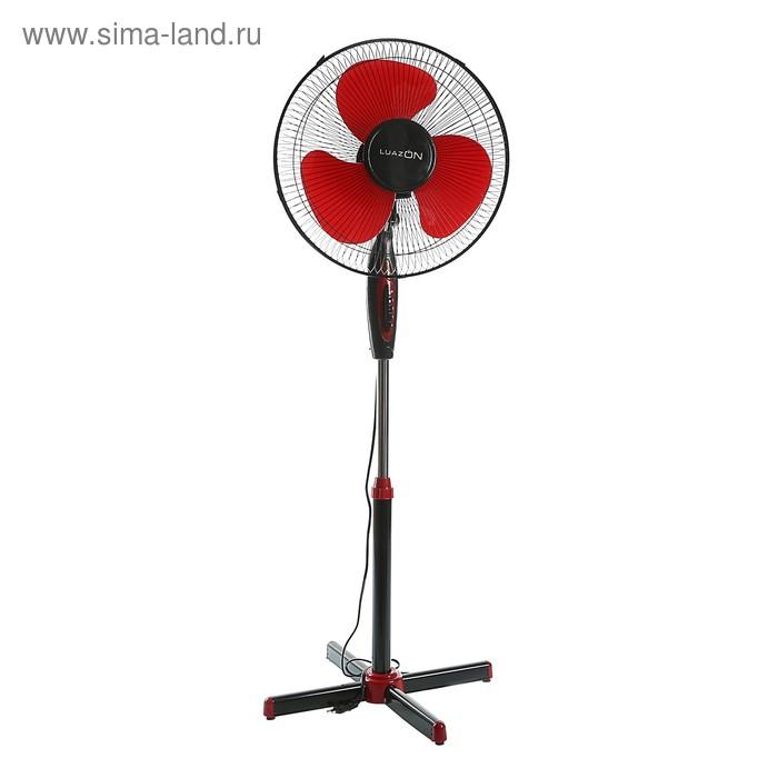 Вентилятор LuazON LOF-01, напольный, 40 - 45 Вт,  3 режима, черно-красный
