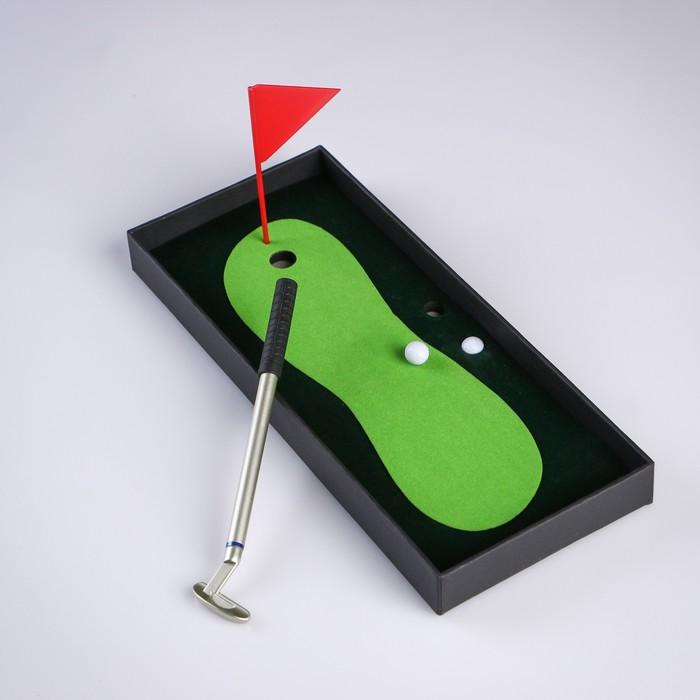 Мини-гольф Настольный, набор для игры, 25х10 см