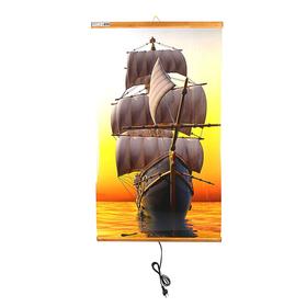 """Обогреватель """"Домашний очаг"""" Корабль, инфракрасный, 500 Вт, 1050 х 600 х 0.5 мм"""