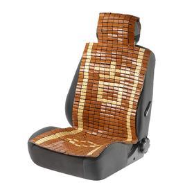 Накидка-массажер на сиденье с капюшоном, 43×115 см, бамбук, бежевый Ош