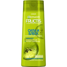 Шампунь Garnier Fructis «Сила и блеск», укрепление, для нормальных волос, 400 мл