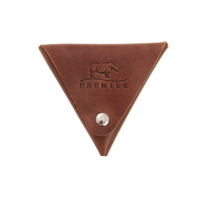 Футляр для монет на кнопке, цвет коричневый - Фото 1