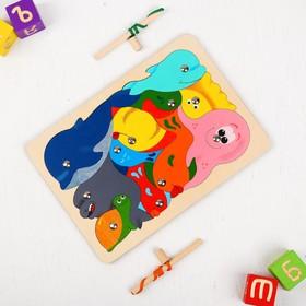 Магнитная мозаика «Рыбалка», 11 деталей, в комплекте 2 удочки