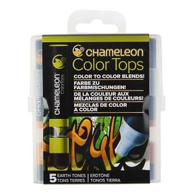 Блендер набор 5 штук, Chameleon, перманентные, спиртовая основа, оттенки земли