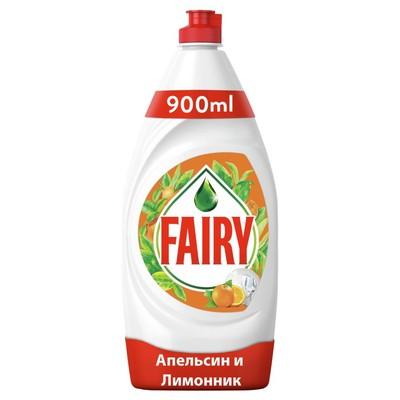 """Средство для мытья посуды Fairy """"Апельсин и лимонник"""", 900 мл - Фото 1"""