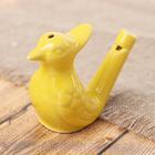 Свистулька керамическая «Желтая птичка»