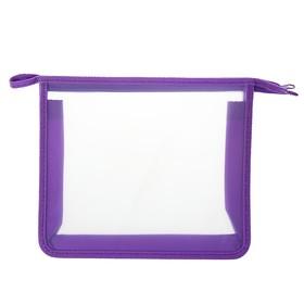 Папка пластиковая А5, молния сверху, Офис Б/Ц ПТ- 7, фиолетовая Ош