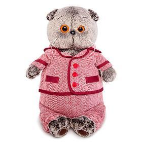 Мягкая игрушка «Басик», в красном пиджаке и брюках в ёлочку, 22 см