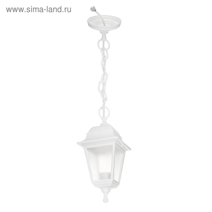Светильник ITALMAC Nobile, четырехгранный, Е27, 60 Вт, IP44, белый, подвесной