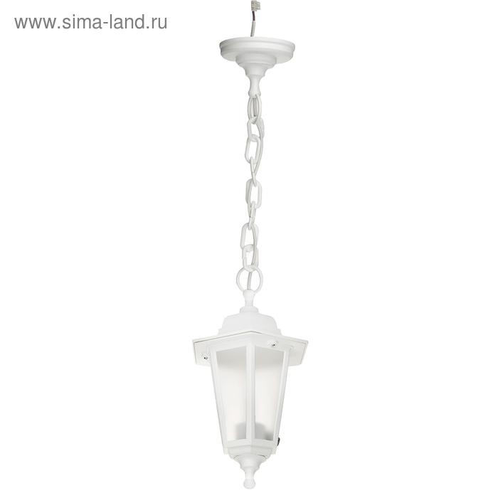 Светильник ITALMAC Nobile, шестигранный, Е27, 60 Вт, IP44, белый, подвесной