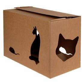 Дом 'Домик+' для кошек 55 х 26 х 35 см Ош
