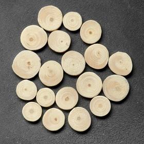 Спил 'Сосновый', круглый, d=3-4 см, h=5 мм Ош