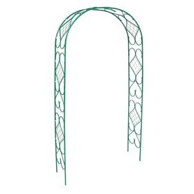 Арка садовая, разборная, 240 × 120 × 36 см, разборная, меатлл, зелёная Ош