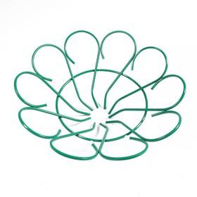 Клумба металлическая, d = 80 см, h = 26 см, зелёная Ош