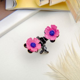 Краб для волос 'Цветочный рай' 1,2 см василек, микс Ош