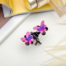 Краб для волос 'Цветочный рай' 1,2 см бабочка, микс Ош