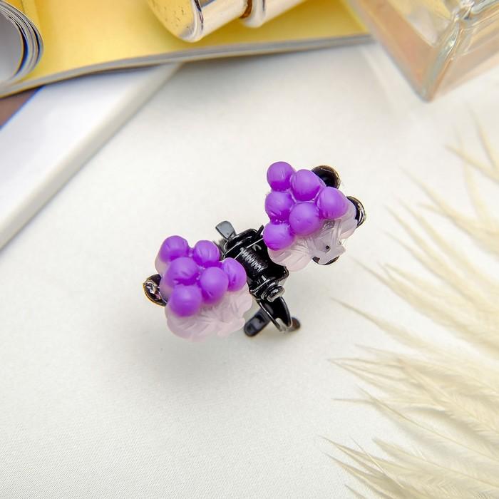Краб для волос Мармелад 1,2 см виноград, микс
