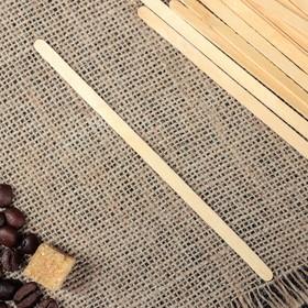 Палочка размешиватель деревянная, 140х6х1,3 мм Ош
