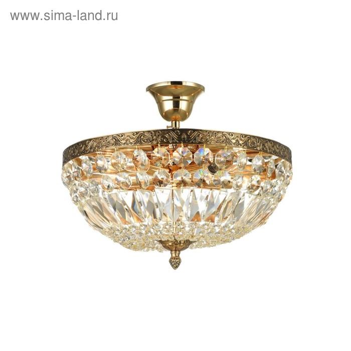 Люстра Tiara 5x60Вт E14 золото 36,5x36,5x33см