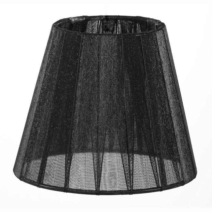 Абажур SS07 Е14 черный 10x15x13см